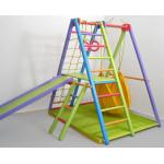 Игровой складной спортивный уголок Кроша цветной с гамаком и матом