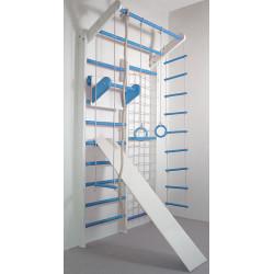 Домашний спортивный комплекс Комби бело-голубой полный комплект