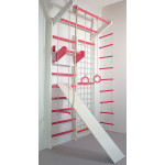 Домашний спортивный комплекс Комби бело-розовый полный комплект