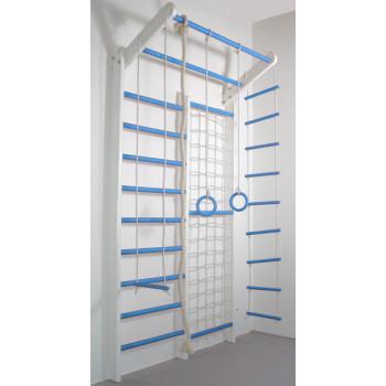 Домашний спортивный комплекс Комби бело-голубой базовый комплект