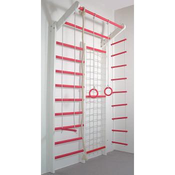 Домашний спортивный комплекс Комби бело-розовый базовый комплект