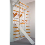 Домашний спортивный комплекс Комби бело-оранжевый полный комплект