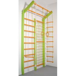 Домашний спортивный комплекс Комби желто-зеленый базовый комплект