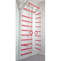 Шведська стінка Сосна біло-рожева базовий комплект