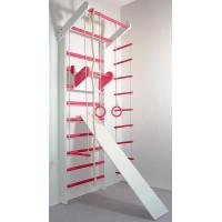 Шведська стінка Сосна біло-рожева повний комплект