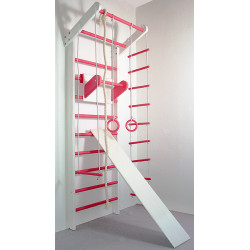 Шведская стенка Сосна бело-розовая полный комплект