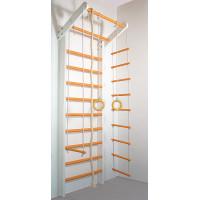 Шведська стінка Сосна біло-помаранчева базовий комплект