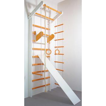 Шведская стенка Сосна бело-оранжевый полный комплект